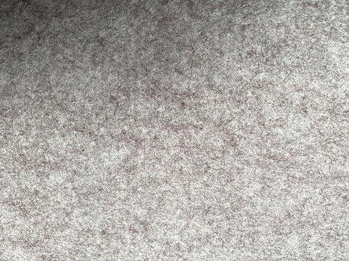 Wool Blend Felt Fabric Silver Birch marl