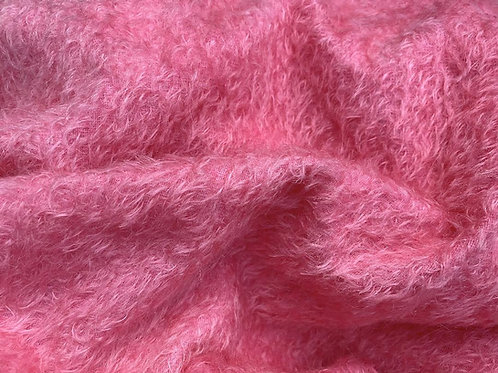 Mohair Fabric 10mm Felted Passion Pink