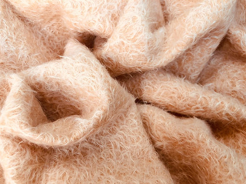 Mohair Fabric 16mm Pale Blush