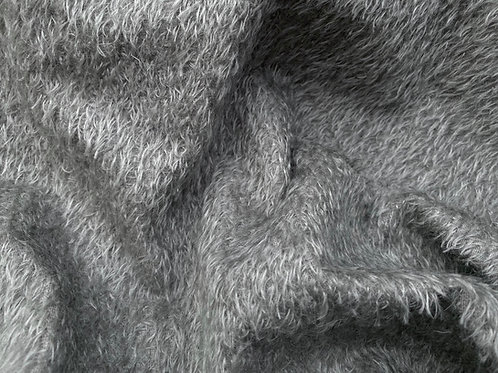 Mohair Fabric 11mm Felted Storm Grey