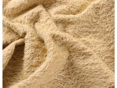 Mohair Fabric 16mm Soft Gold