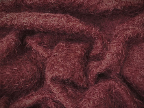 Mohair Fabric 16mm Claret Red