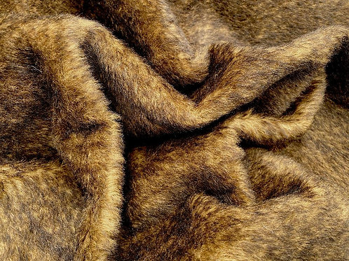 Alpaca Fur Fabric 14mm Rustic Bark