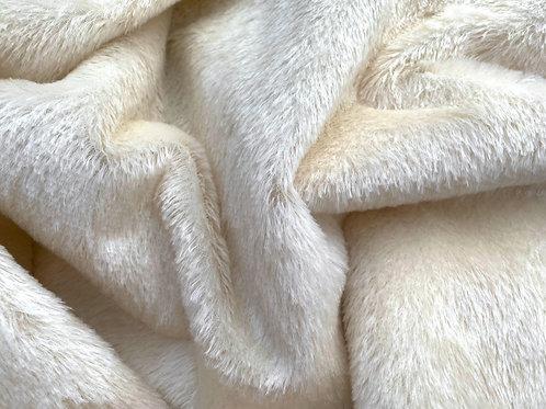 Mohair Fabric 12mm Crocus White