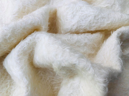 Mohair Fabric 16mm Soft Ivory