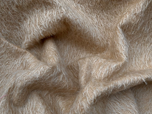 Mohair Fabric 11mm Felted Fawn Beige