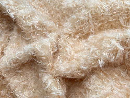 Mohair Fabric 22mm Warm Champagne