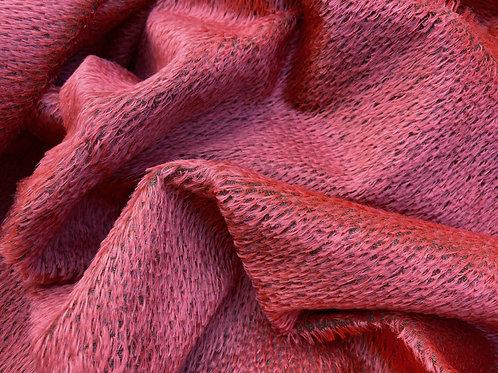 Mohair Fabric 10mm Molten Red