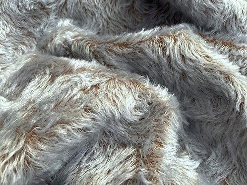 Swirl Mohair Fabric 14mm Silver Cloud