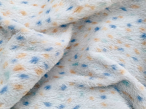 Miniature Viscose Fabric 4mm Speckled Blues