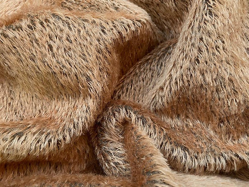 Mohair Fabric 10mm Warm Brown