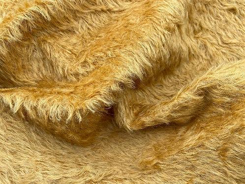 Mohair Fabric 14mm Medallion Gold