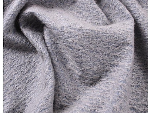 Mohair Fabric 11mm Felted Dusky Blue