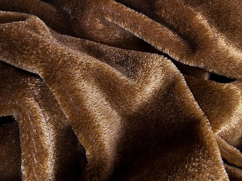Mohair Fabric 7mm Russet Bear