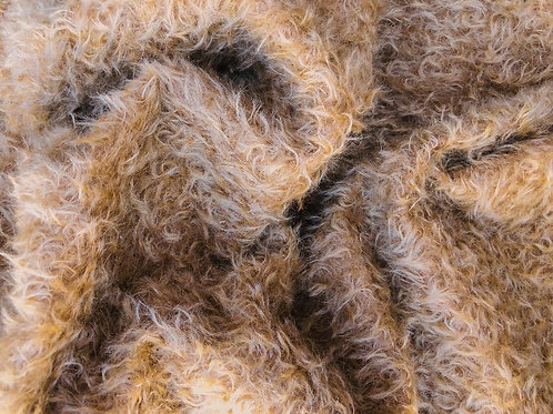 Mohair Fabric 20mm Delicious Toffee