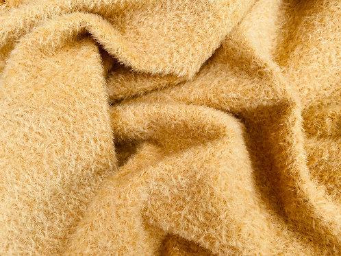 Mohair Fabric 9mm Honey Gold