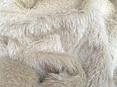 Mohair Fabric 20mm Ivory Loom-state