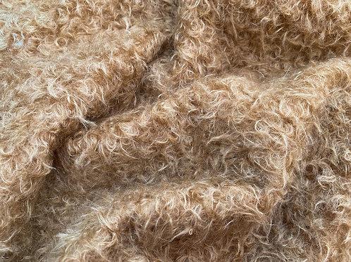 Mohair Fabric 22mm Copper Beige