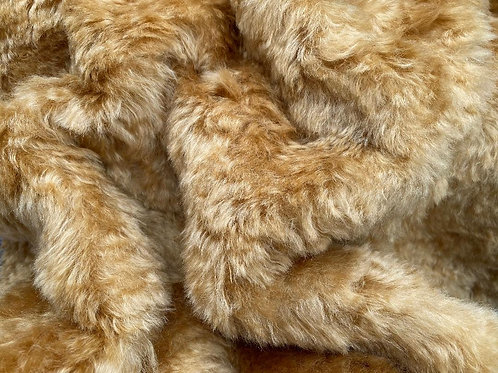 Mohair Fabric 25mm Warm Gold