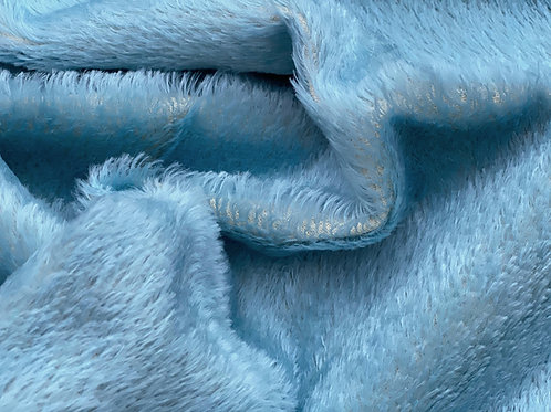 Mohair Fabric 12mm Forget Me Not Blue