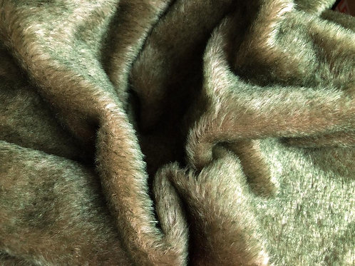 Mohair Fabric 13mm Forest Brown