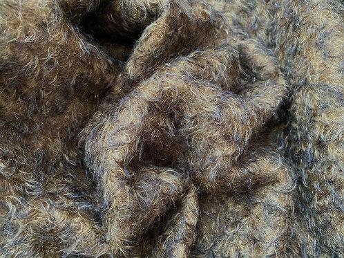 Mohair Fabric 25mm Midnight Sand