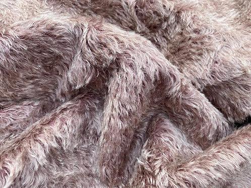 Swirl Mohair Fabric 14mm Plum