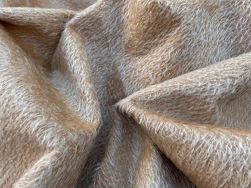 Mohair Fabric 8mm Camel Beige