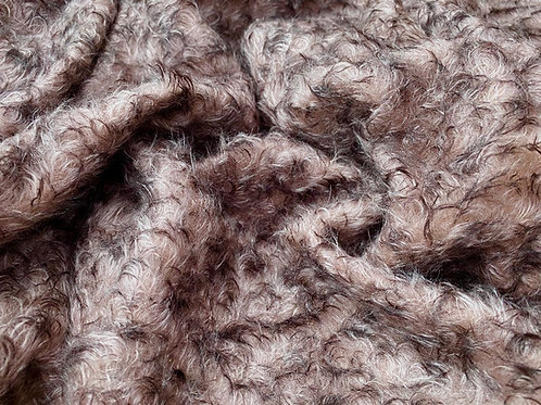 Mohair Fabric 25mm Plum Delight