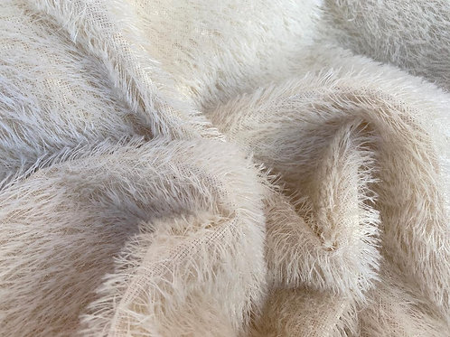 Mohair Fabric 16mm Ivory Loom-state