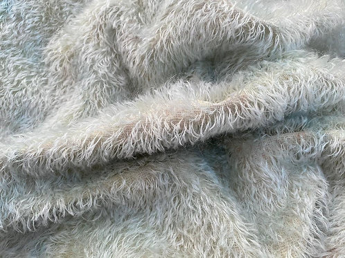 Mohair Fabric 14mm Vintage Style Blue