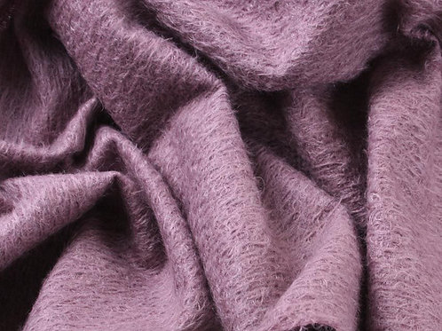 Mohair Fabric 11mm Felted Blackberry