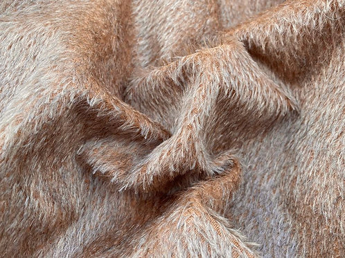 Mohair Fabric 10mm Pumpkin