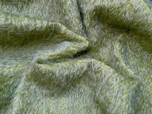 Mohair Fabric 11mm Felted Herb Green