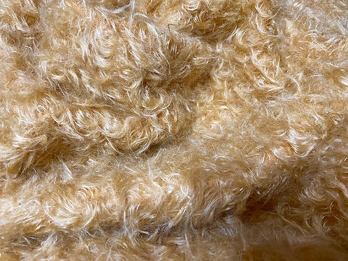 Mohair Fabric 20mm Honey Gold