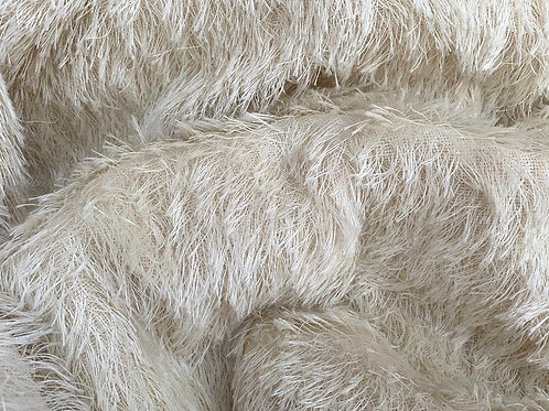 Mohair Fabric 25mm Ivory Loom-state