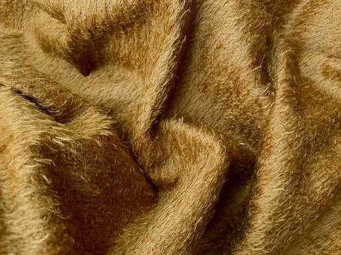 Mohair Fabric 11mm Felted Bronze Gold