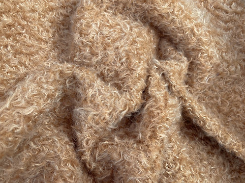 Mohair Fabric 15mm Caramel Swirl