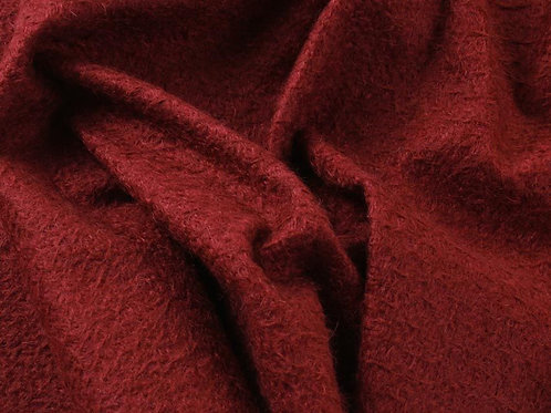 Mohair Fabric 11mm Felted Port Red