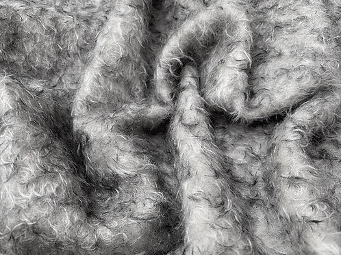 Mohair Fabric 25mm Silver Birch