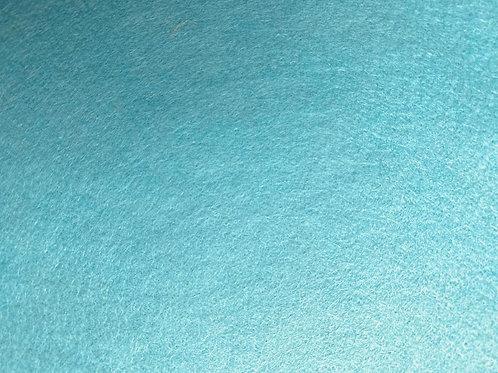 Wool Blend Felt Fabric Sea Blue