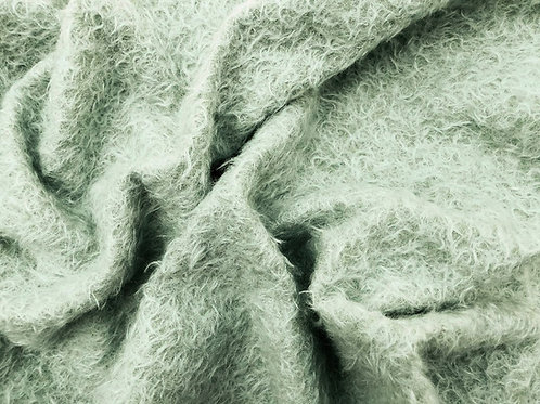 Mohair Fabric 16mm Herb Green
