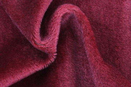 Mohair Fabric 10mm Maroon Red