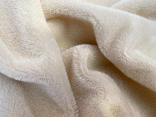Mohair Fabric 9mm Ivory Loom-state