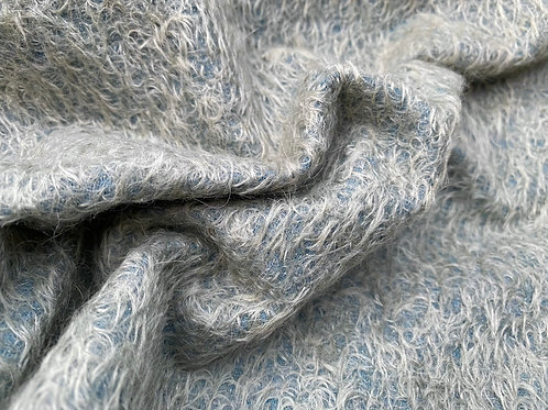 Mohair Fabric 11mm Felted Aged Blue