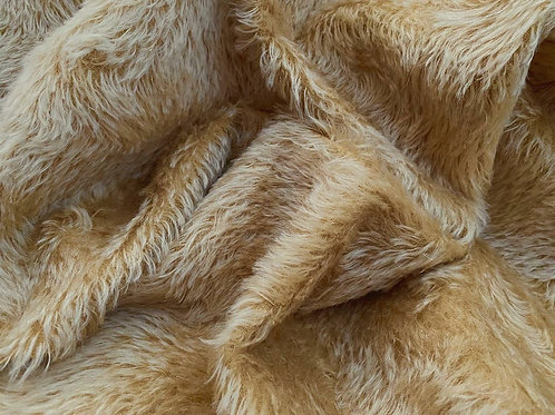 Swirl Mohair Fabric 14mm Gold