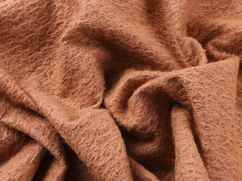 Mohair Fabric 11mm Felted Terracotta