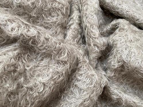 Mohair Fabric 25mm Toasty Grey