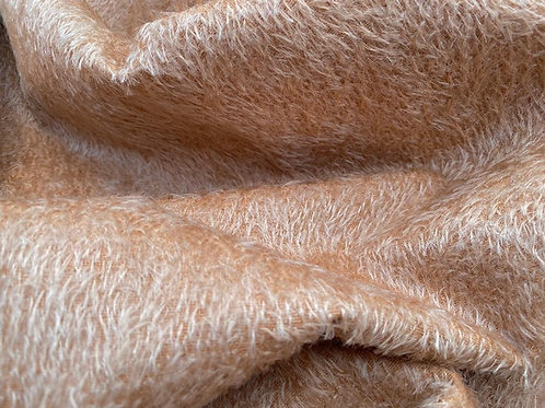 Mohair Fabric 8mm Pale Chestnut