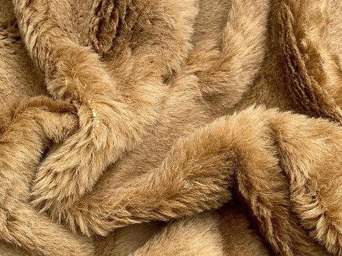 Alpaca Fur Fabric 20mm Autumn Brown